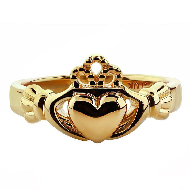 "Gold Claddagh Ring ULG-6163Y in 14K Yellow Gold <font color=""#FF0000""> IN STOCK!  Ships in 24 Hours!</font> - Uctuk"