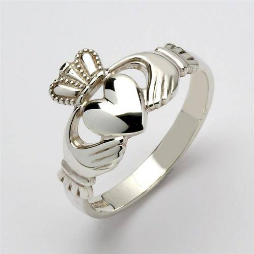 Retired MENS Silver Claddagh Ring MSF-R209 - Uctuk