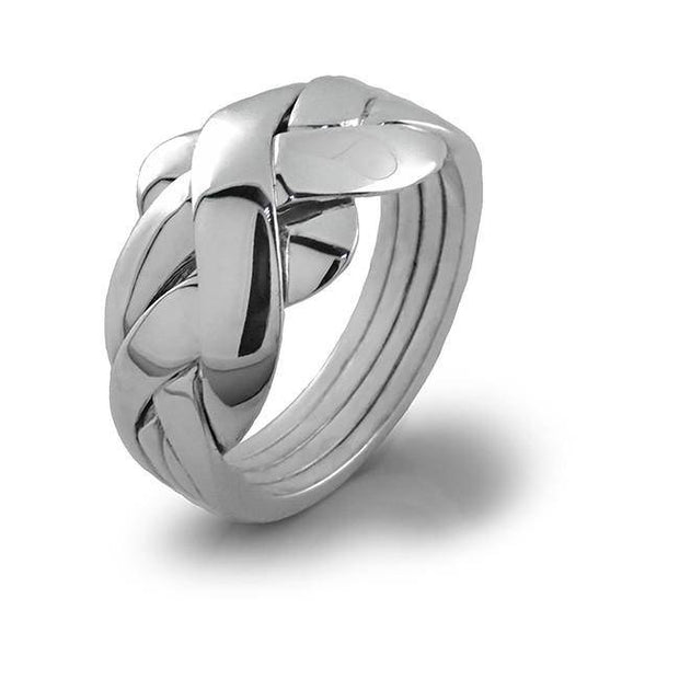 UNISEX 4 band STERLING SILVER Puzzle Ring 4BDS - Uctuk