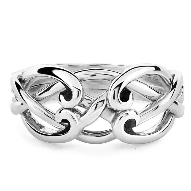 LADIES 4 band STERLING SILVER Celtic Puzzle Ring 4CSL - Uctuk