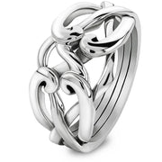 4 band STERLING SILVER Mens Celtic Puzzle Ring 4CSM - Uctuk