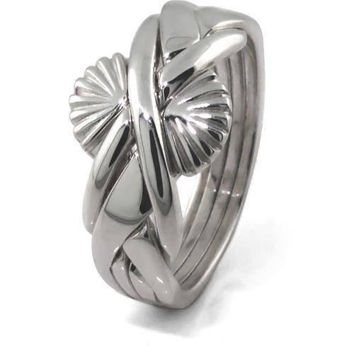 LADIES FAN 4 band STERLING SILVER Puzzle Ring 4FSD - Uctuk