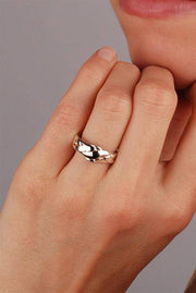 LADIES PETITE 4 band STERLING SILVER Puzzle Ring 4PSL - Uctuk