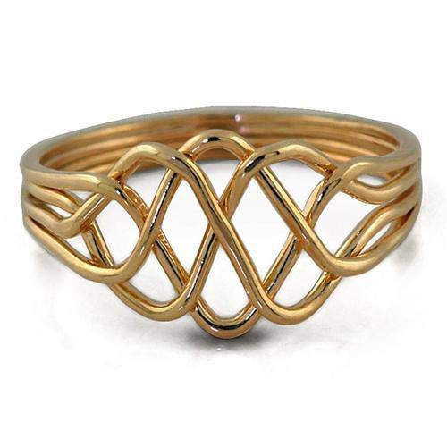 14K Yellow Gold 4 Band Princess Puzzle Ring 4PY - Uctuk