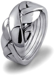 UNISEX 5 band STERLING SILVER Puzzle Ring 5BDS - Uctuk