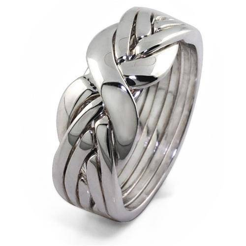 LADIES 6 band STERLING SILVER Puzzle Ring 6BSL - Uctuk
