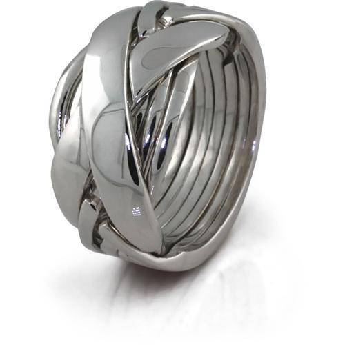 Mens 7 band STERLING SILVER Puzzle Ring 72SM - Uctuk