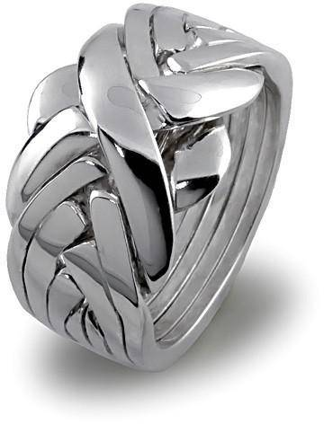 UNISEX 7 band STERLING SILVER Puzzle Ring 7BDS - Uctuk