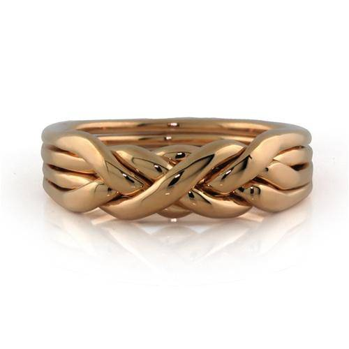 Mens 4 band HEAVY Gold Puzzle Ring MGR-4RG - Uctuk