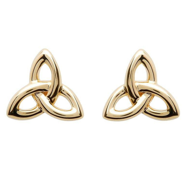 10K Yellow Gold Celtic Trinity Knot Earring 10E643 - Uctuk