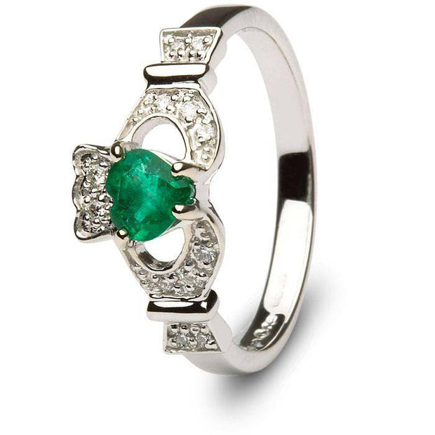 Ladies Claddagh Engagement Ring SL-14L68WED - Uctuk