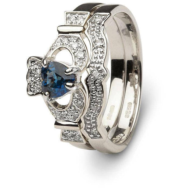 Ladies Claddagh Engagement Ring SL-14L68WSD - Uctuk