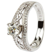 Ladies Wedding Ring SL-JP22W match for Celtic Engagement Ring SL-JP21W - Uctuk