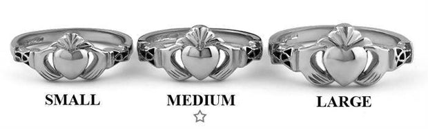 Ladies Silver Claddagh Ring LS-BCLAD107-MEDIUM - Uctuk