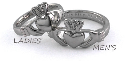 Mens Claddagh Ring - Silver - SG92