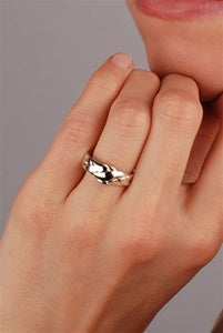 Ladies Paltinum Puzzle Rings