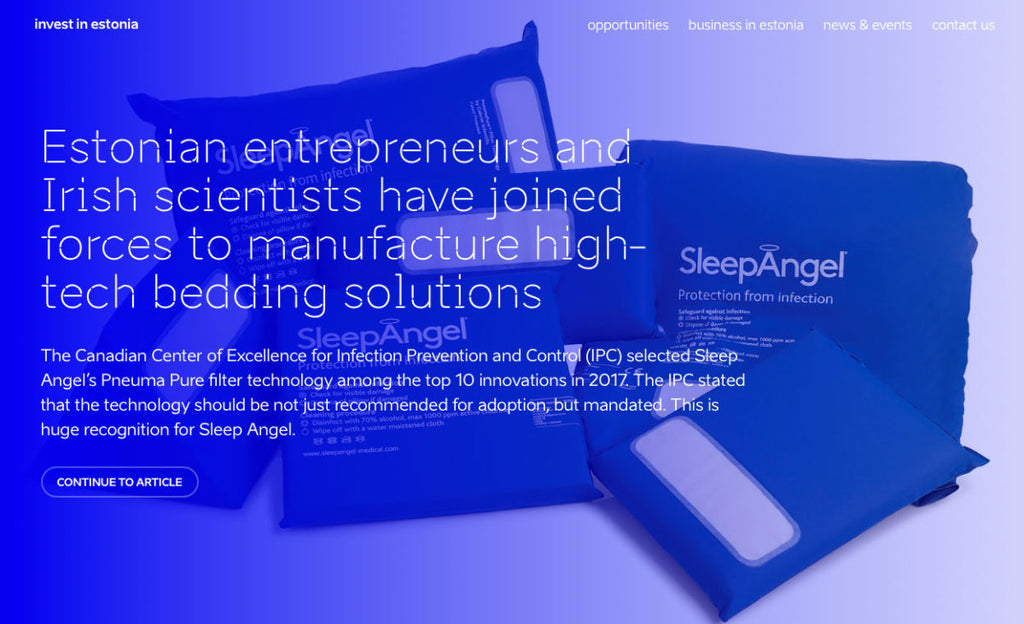 Estonian entrepreneurs and Irish scientists have joined forces to manufacture high-tech bedding solution