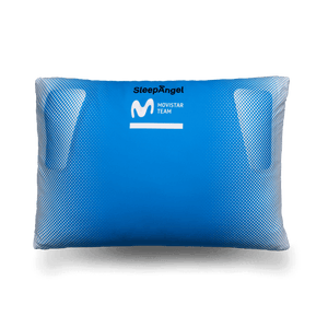 SleepAngel pillow is easy to clean, sustainable to maintain, comfortable to use. Comes with cool Movistar Team custom design.