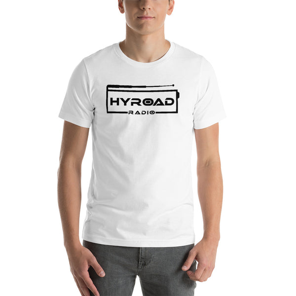 White with Black Logo Short-Sleeve Unisex T-Shirt
