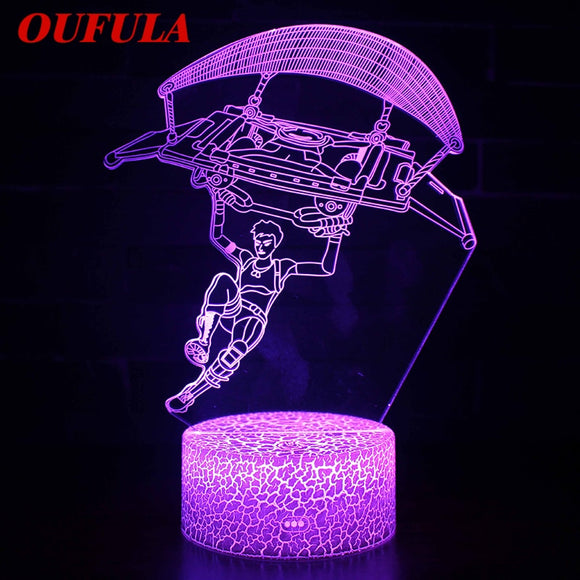 Night LED Lights Novelty 3D  lamp 7 Colors Graphics Cartoon Atmosphere Lamp For Children Kids Room