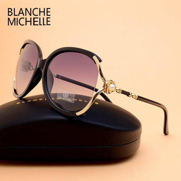 High Quality Polarized Sunglasses Women UV400 Brand Designer Blanche Michelle With Box - Buyhops