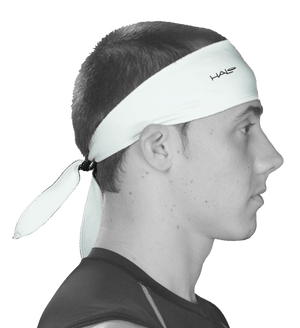 Halo Super Wide Sweatband - tie version - Haloheadband Canada