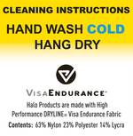 Halo II Pullover Headband Cleaning Instructions