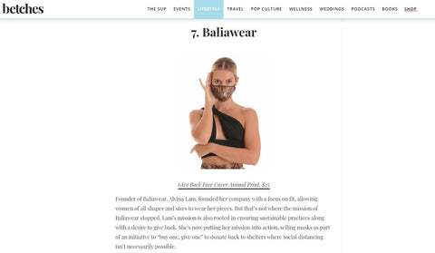 Betches features Baliawear for innovated masks!