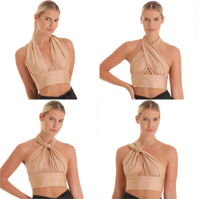 Balia 8 Way Top - Gold