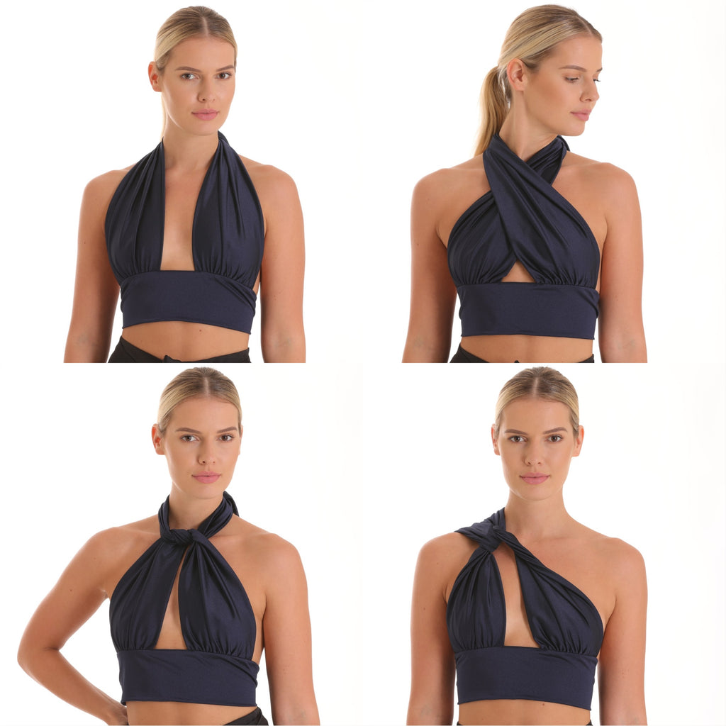Balia 8 Way Top - Navy Blue