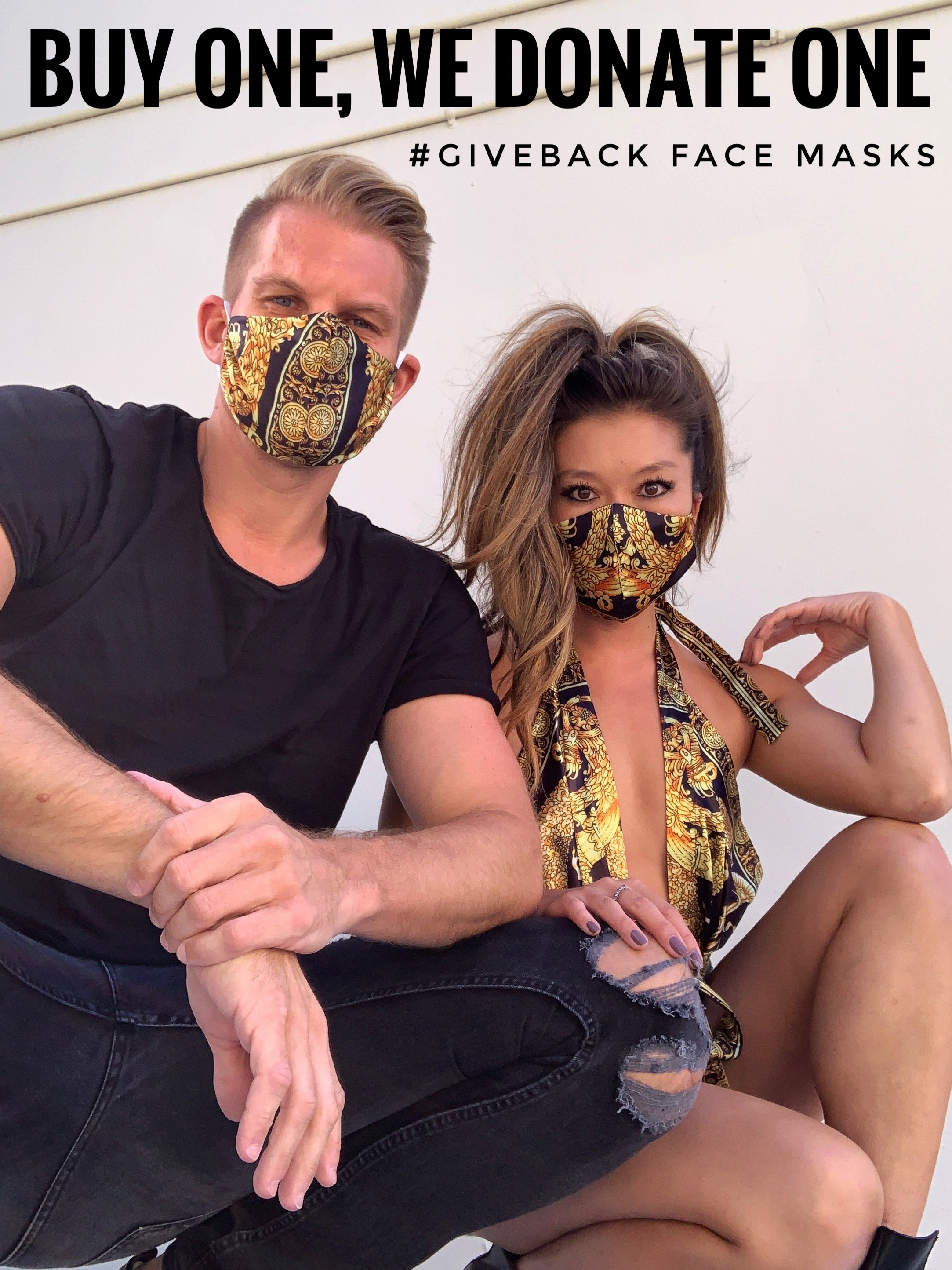 Face Cover - Black Print