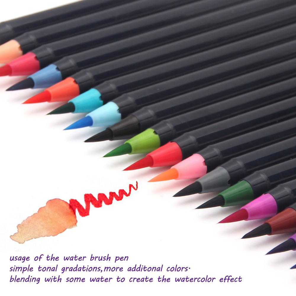 - 20 Color Premium Painting Soft Brush Pen Set Watercolor Markers Pen Ef