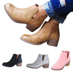 478800d8807 Casual Women Boot Fashion Low Heel Thick Heel Boot ...