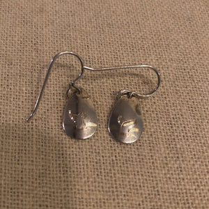 Sterling Silver Earrings, Whale Tail