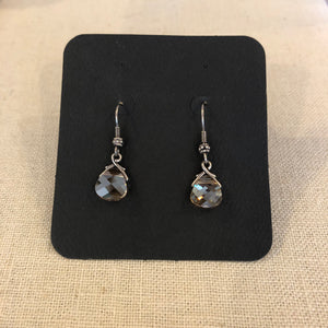 Earrings- Col Topaz briolettes/sterling
