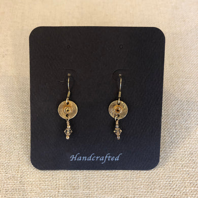 Earrings- gold vermeil with amber