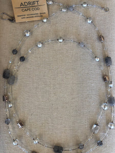 Necklace- Venetian gray/silver