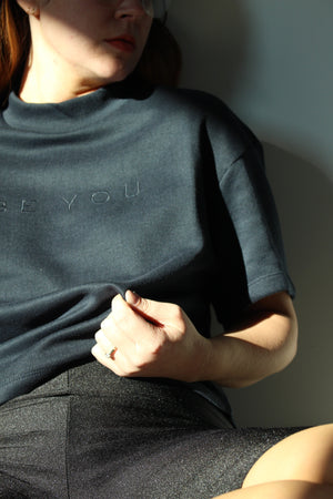 MOCK NECK BEYOU SWEATER NAVY