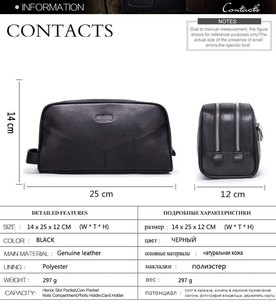 Genuine Leather Toiletry Bag, bags, Falattar Store