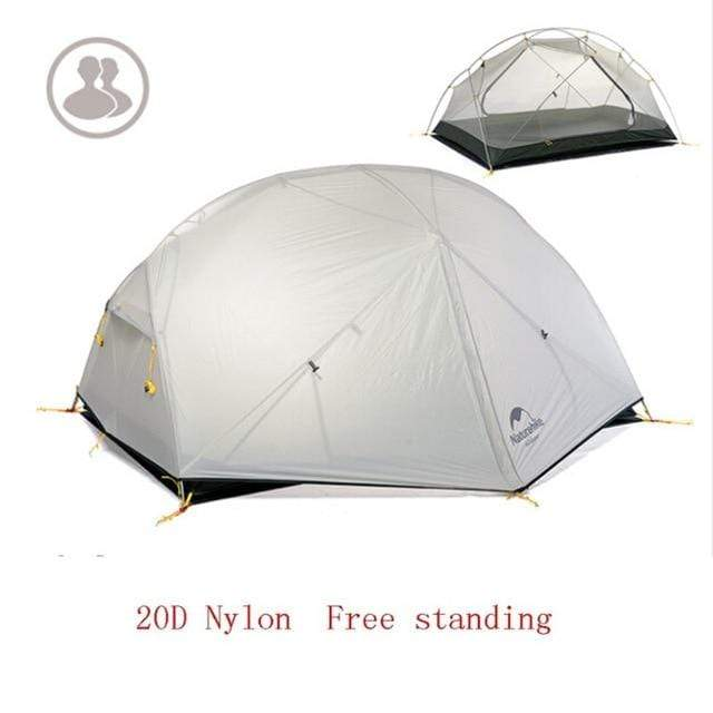 Falattar Store  Double Layer Camping Tent 20D Gray / Australia Double Layer Camping Tent
