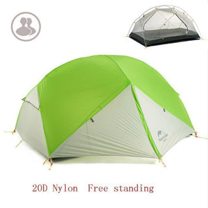 Falattar Store  Double Layer Camping Tent 20D Green gray / Australia Double Layer Camping Tent