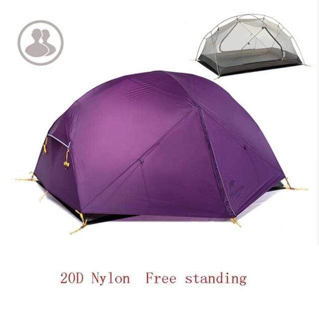 Falattar Store  Double Layer Camping Tent 20D Purple / Australia Double Layer Camping Tent