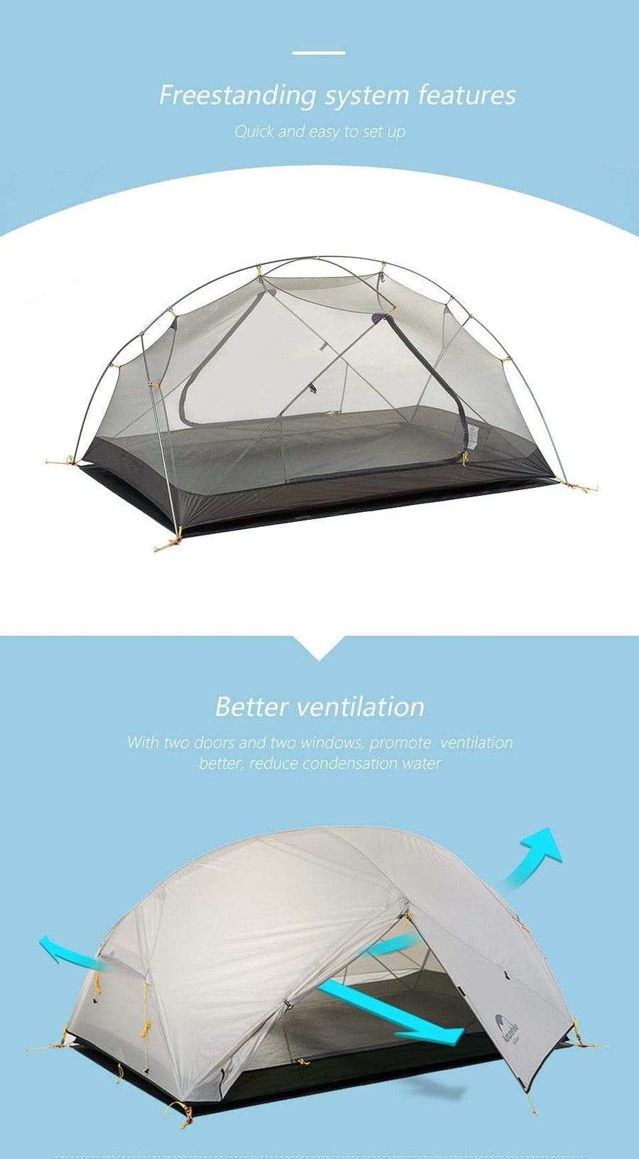 Falattar Store  Double Layer Camping Tent Double Layer Camping Tent