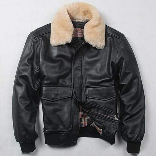 Falattar Store  Genuine Leather Air Force Flight Jacket Black / S Genuine Leather Air Force Flight Jacket