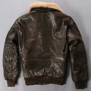 Falattar Store  Genuine Leather Air Force Flight Jacket Genuine Leather Air Force Flight Jacket