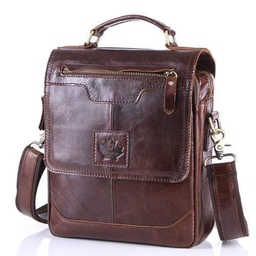 100% Genuine Cowhide Leather Shoulder Bag, handbags, Falattar Store