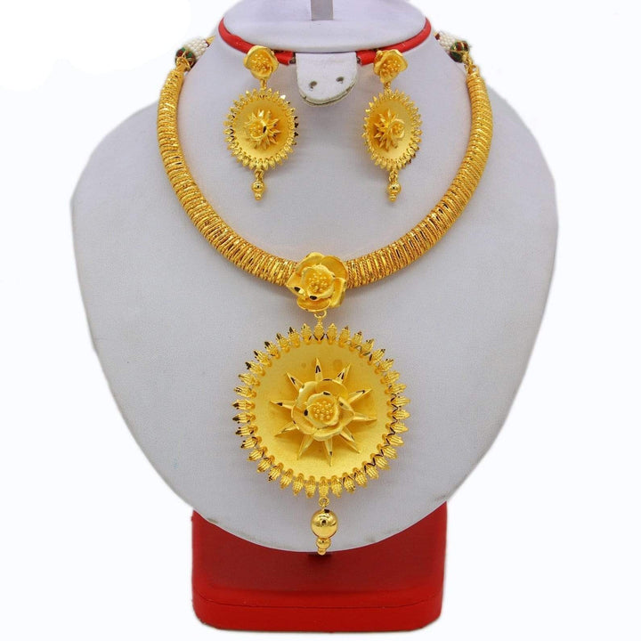 India Necklace & Earrings Jewelry Set, India Necklace & Earrings Jewelry Set, Falattar Store