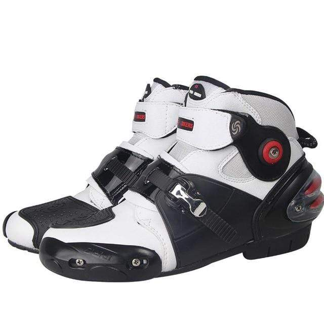 Falattar Store  Motorcycle Boots white / 7 Motorcycle Boots