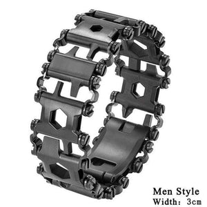 Falattar Store  Multifunctional Tools Bracelets Men Black Multifunctional Tools Bracelets