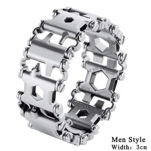 Falattar Store  Multifunctional Tools Bracelets Men Silver Multifunctional Tools Bracelets